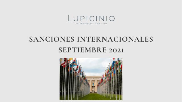 SANCIONES INTERNACIONALES SEPTIEMBRE 2021